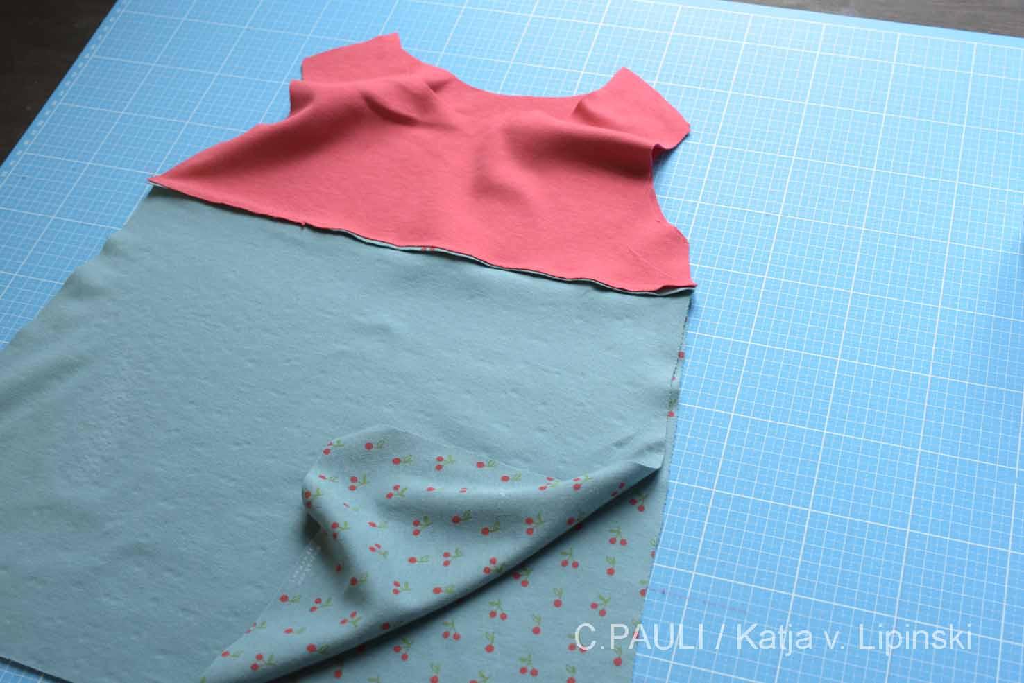 jerseykleider für mädchen selber nähen - schnitt, anleitung