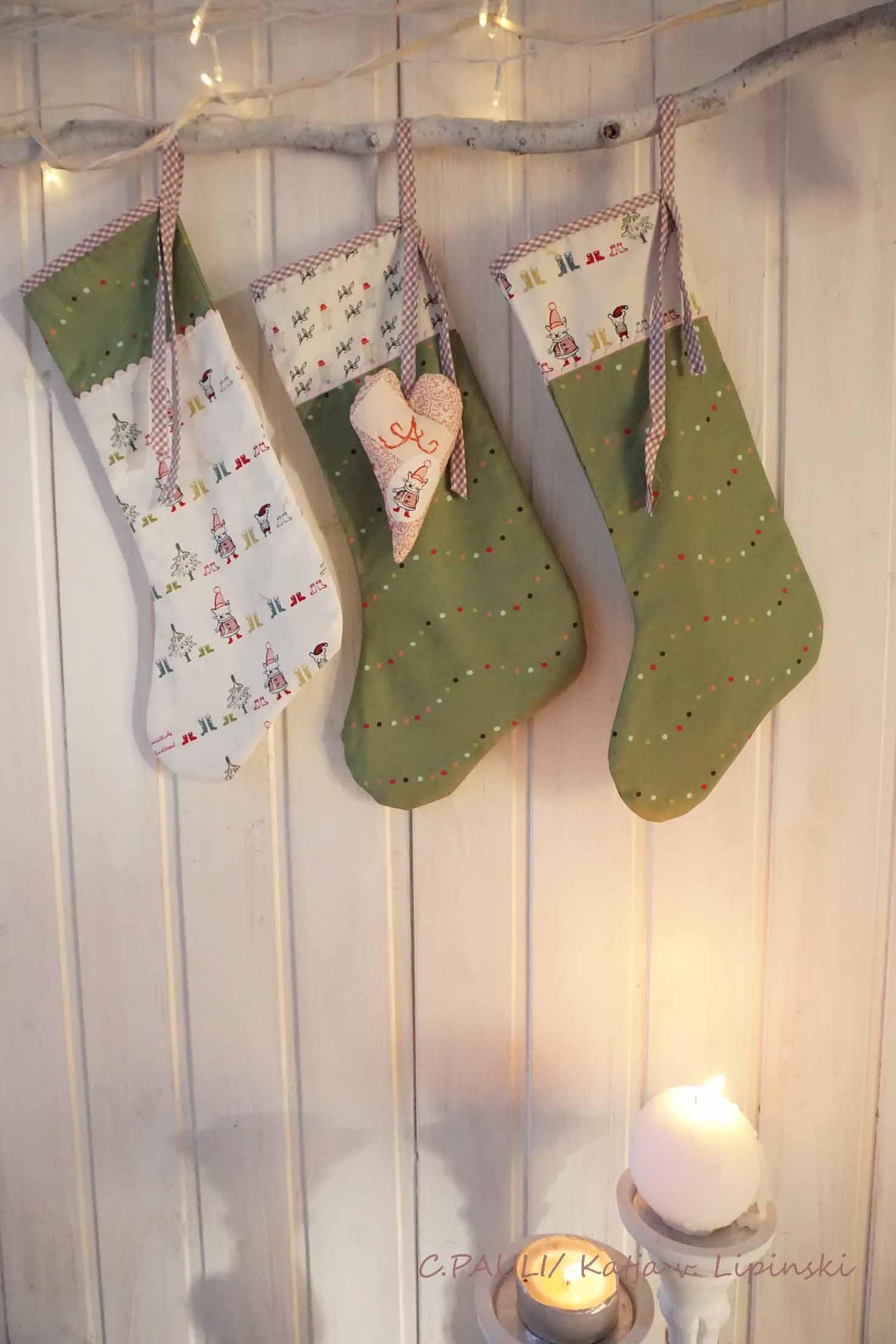 Nähen für Weihnachten: Adventsstiefel | C.Pauli Nature Blog