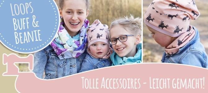 Leichte Accessoires: Loops, Buff und Beanie