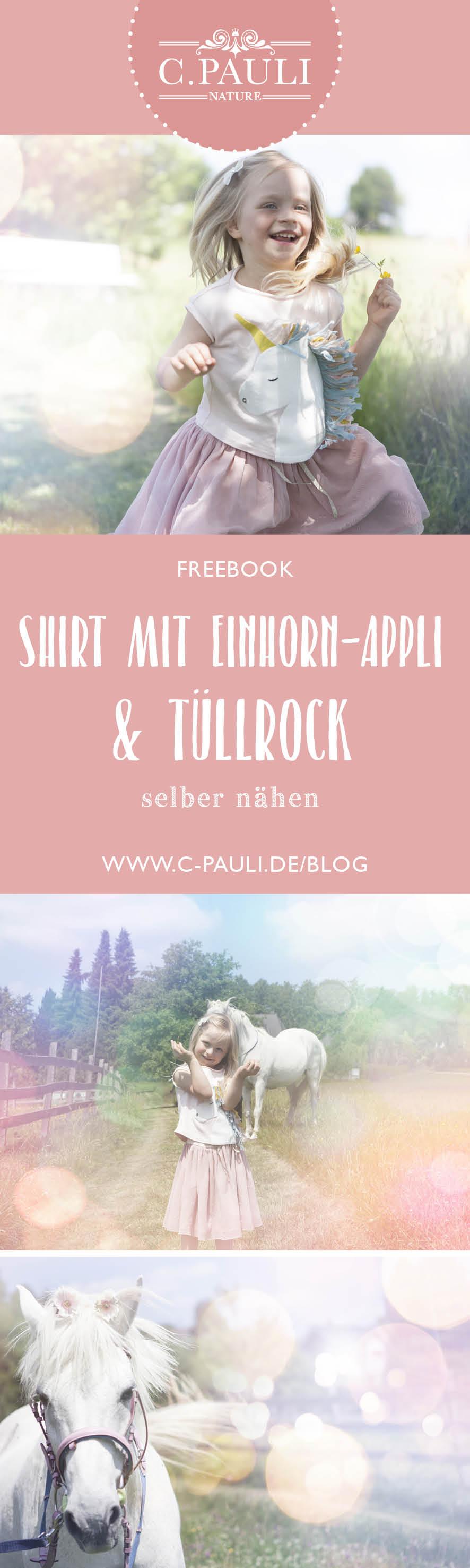 Ein Traum Fur Kleine Madchen Tull Rock Und T Shirt Mit Einhorn