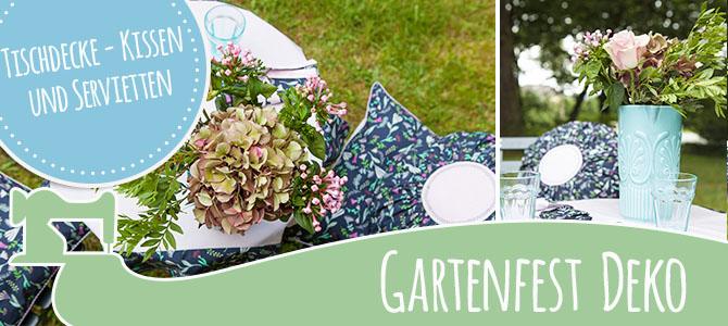 DIY – Gartenfest – Tischdeko – Zierkissen