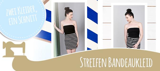 Streifen-Special – Bandeaukleid Hanna – DIY für den Strand  – ein Schnitt, zwei Kleider