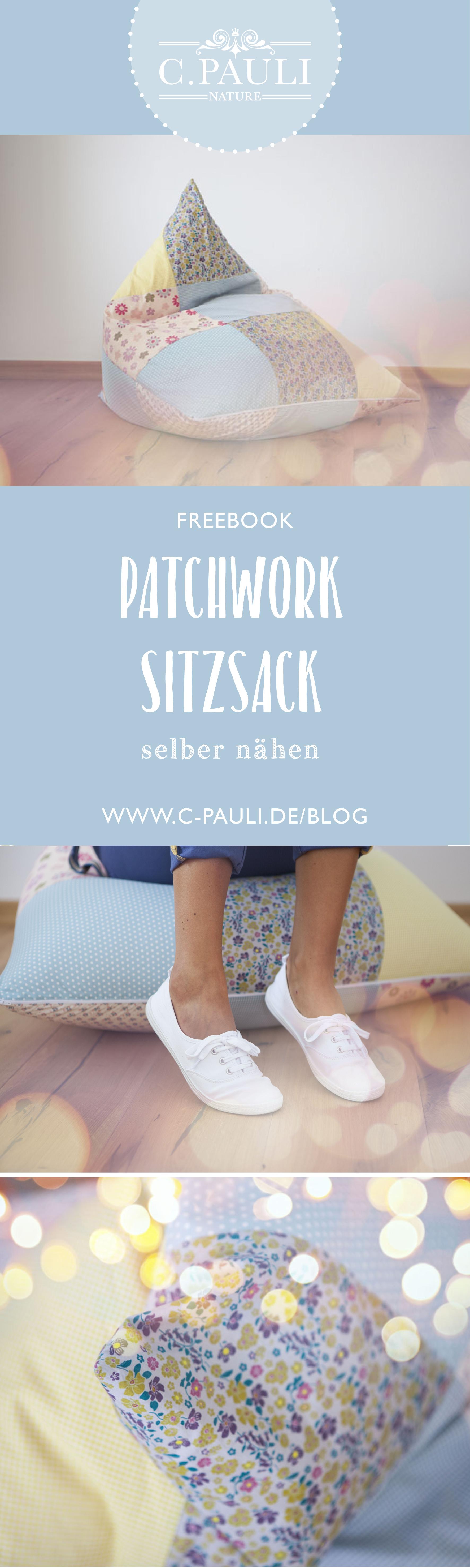 DIY Patchwork Sitzsack in Pastelltönen | C.Pauli Nature Blog