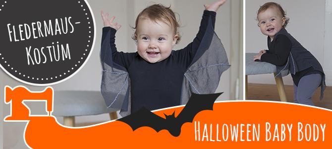 Baby-Halloweenkostüm Fledermaus – Schnittmuster und Tutorial
