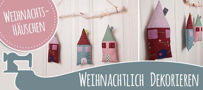 Weihnachtliche Deko-Häuschen