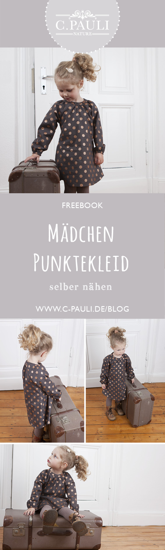 festliches punktekleid | c.pauli nature blog