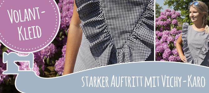 Sommerliches Volant-Kleid