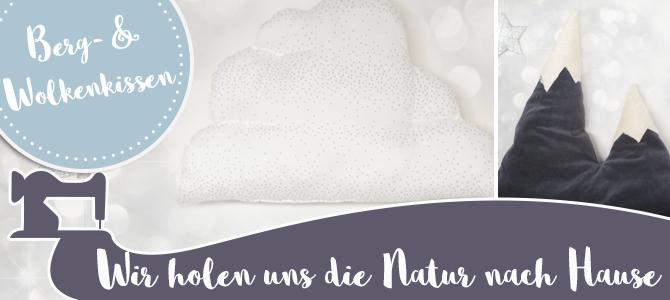 Berge & Wolken Kissen