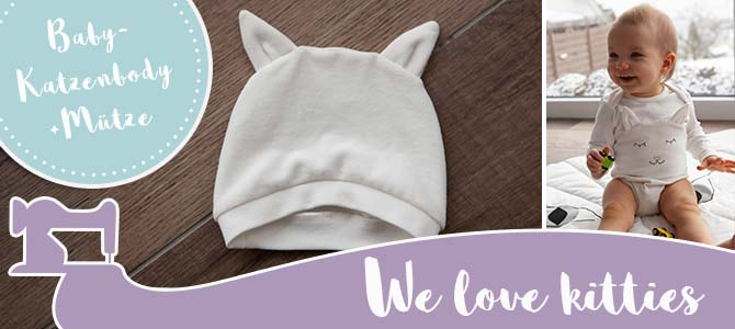 Baby-Katzenbody und Mütze ♥︎🐱