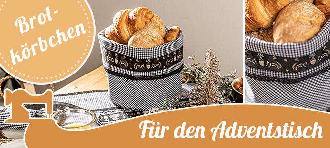 Für ein schönes Adventsfrühstück – Brotkörbchen mit Eichhörnchenband