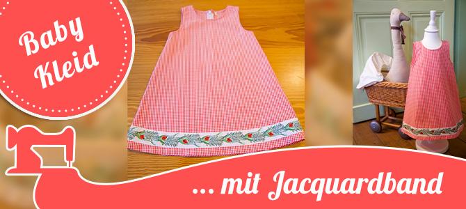Babykleid mit Jacquardband