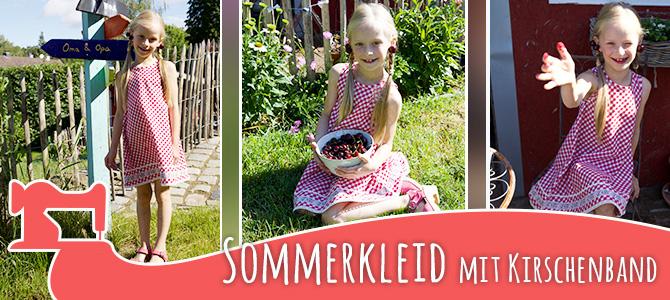 Sommerkleid mit Kirschenband