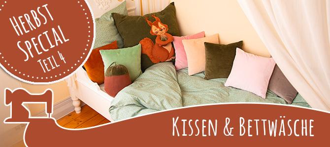 Kissen und Bettwäsche