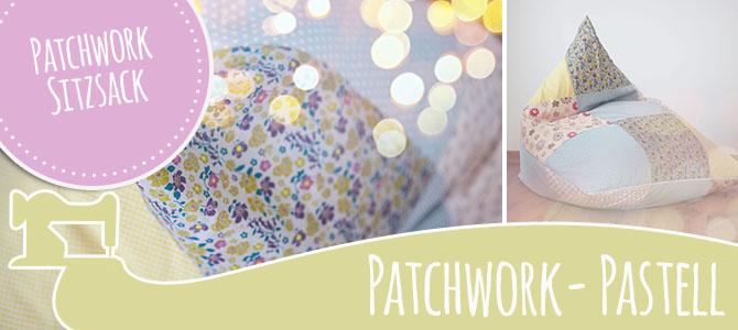 DIY Patchwork Sitzsack in Pastelltönen