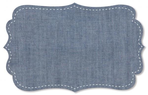 Chambray Stoff - uni - kia deep blue
