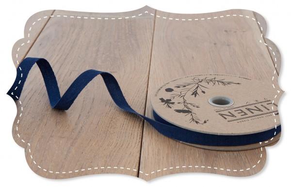 Leinen-Band 10mm blau