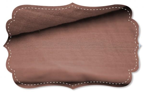 Musselin - uni - cedar wood