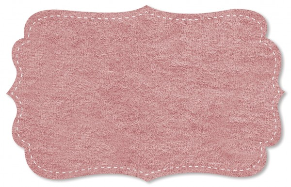 Strickfrottee Stoff - uni - rose dawn