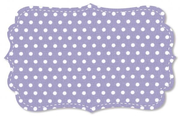 Popeline fein Stoff - kleine Punkte - lavender aura