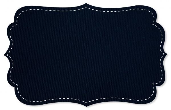 Gabardine Stoff - uni - navy blazer
