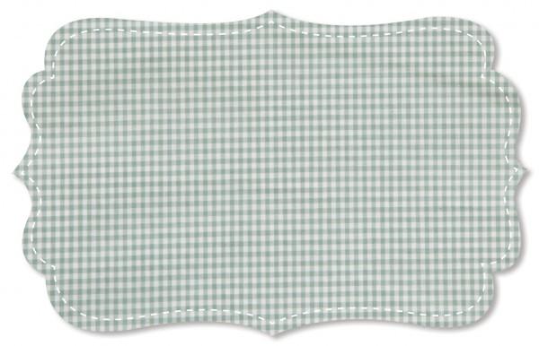 Popeline fein Stoff - kleines Webkaro - green bay/weiß