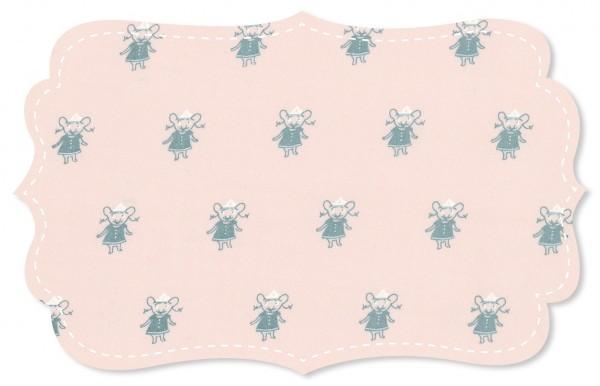 Popeline Stoff - Mäuse Mädchen peach blush