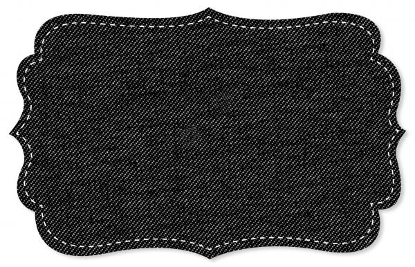 Jersey Jeansoptik Stoff - uni - black