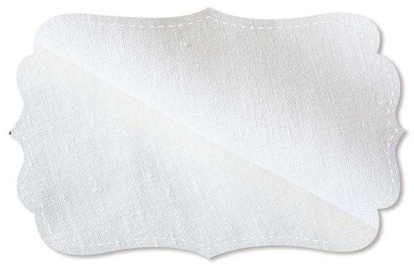 Leinen - 150 cm - uni - white