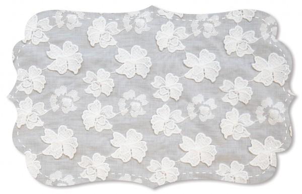 Blossom, Applikation Spitze - uni - weiß