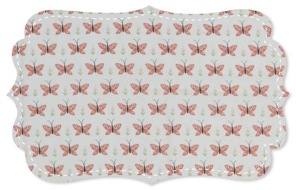Popeline fein Stoff - Schmetterling