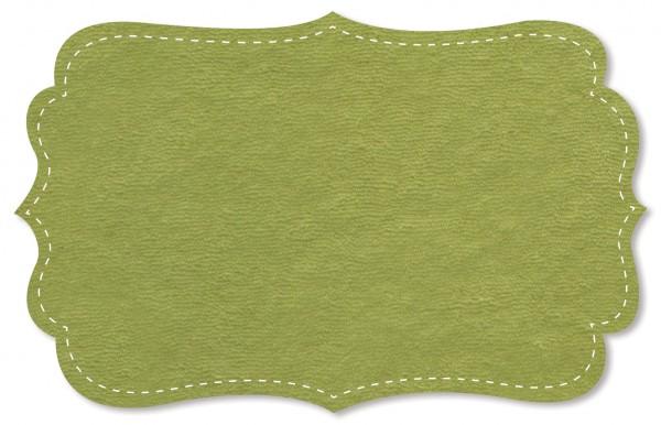 Strickfrottee Stoff - uni - moss