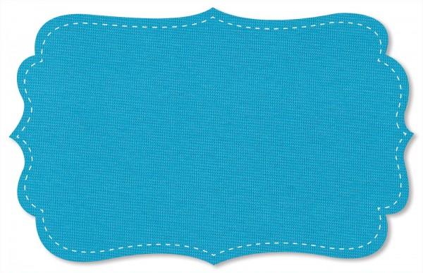 Bündchenware Rib 1x1 Stoff - uni - blue atoll