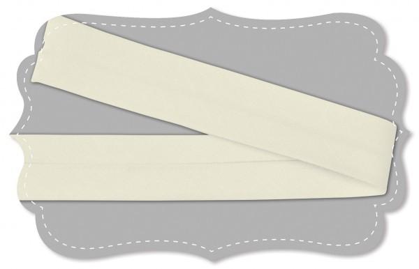 Schrägband - Bio-Baumwollstoff - uni - natur