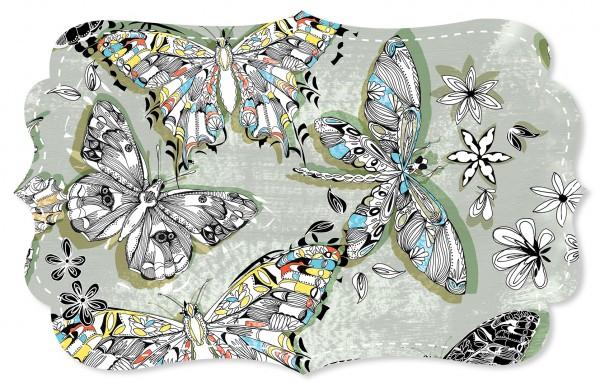 Single Jersey Stoff - Farfalla