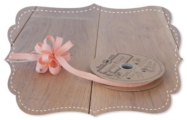 Leinen Ziehband rosa 8mm für Stoffblumen
