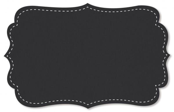 Interlock Stoff - uni - black