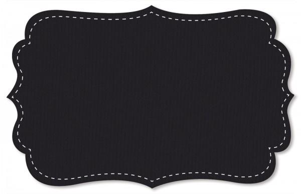 Sweat Stoff - uni - black