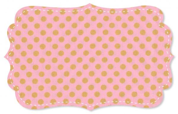 Popeline fein Stoff - mittelgroße Punkte - candy pink/golden apricot