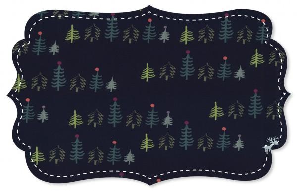 Popeline fein Stoff - Weihnachtswald