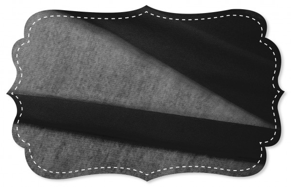 Soft Tüll Stoff - uni - jet black