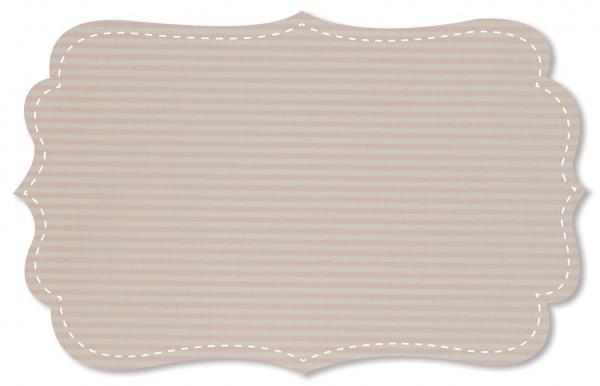 Interlock Stoff - Ringel - peach blush/weiß