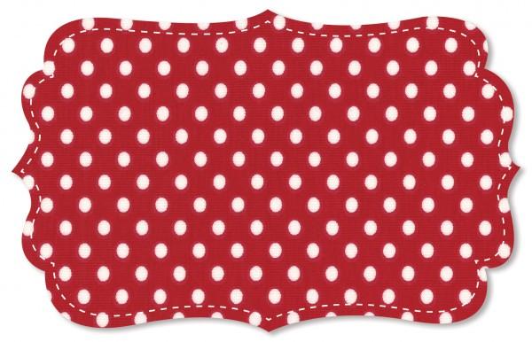 Single Jersey Stoff - mittelgroße Punkte - tango red/weiß
