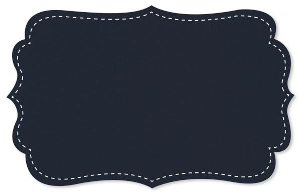 Bündchenware Rib 1x1 Stoff - uni - navy blazer