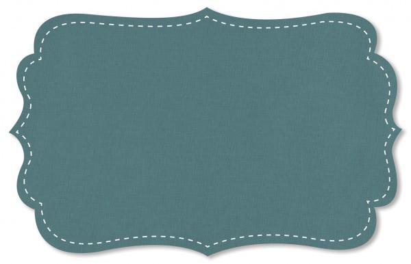 Popeline fein Stoff - uni - stone blue