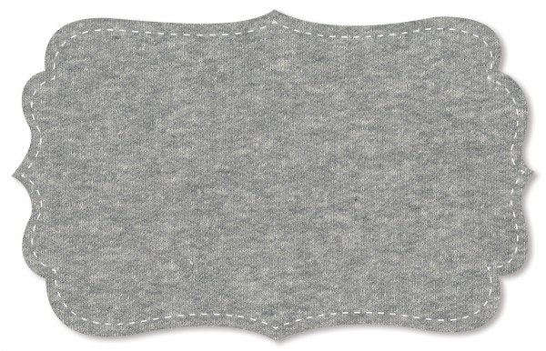 Sweat Stoff - meliert - stone grey