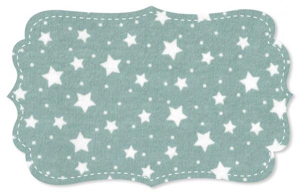 Interlock Stoff - starry sky cloud blue