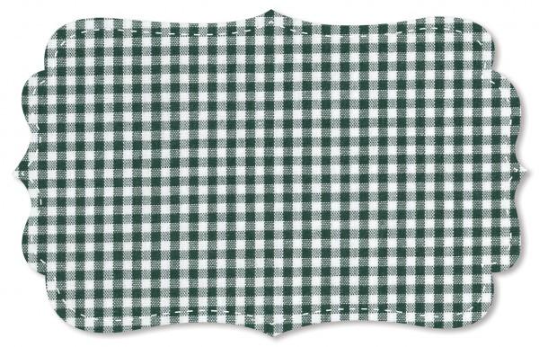 Popeline fein Stoff - kleines Webkaro - kombu green/weiß