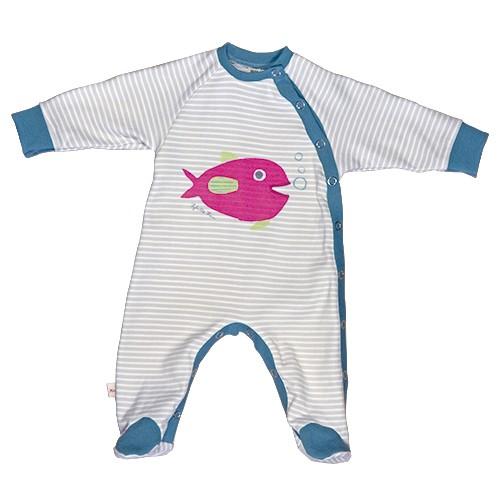 Langarm-Strampler Fisch