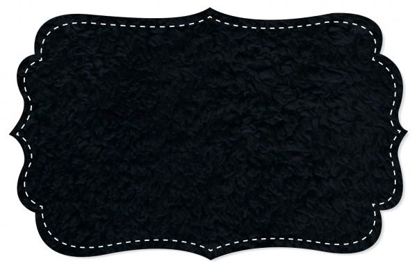 Plüsch Stoff - uni - black