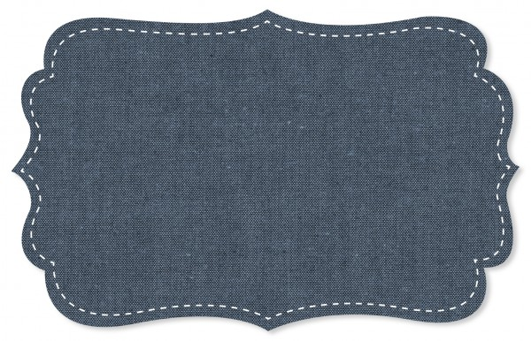 Chambray Stoff - uni - denim blue